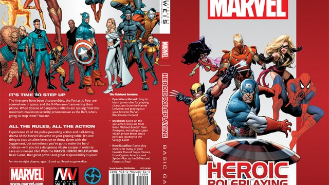 Marvel Heroic Roleplaying: covers