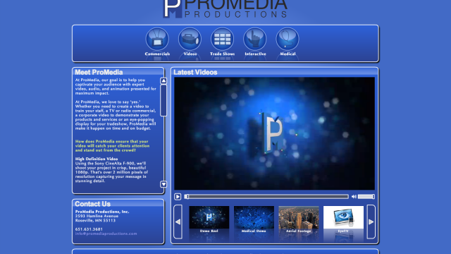 ProMedia Productions: website